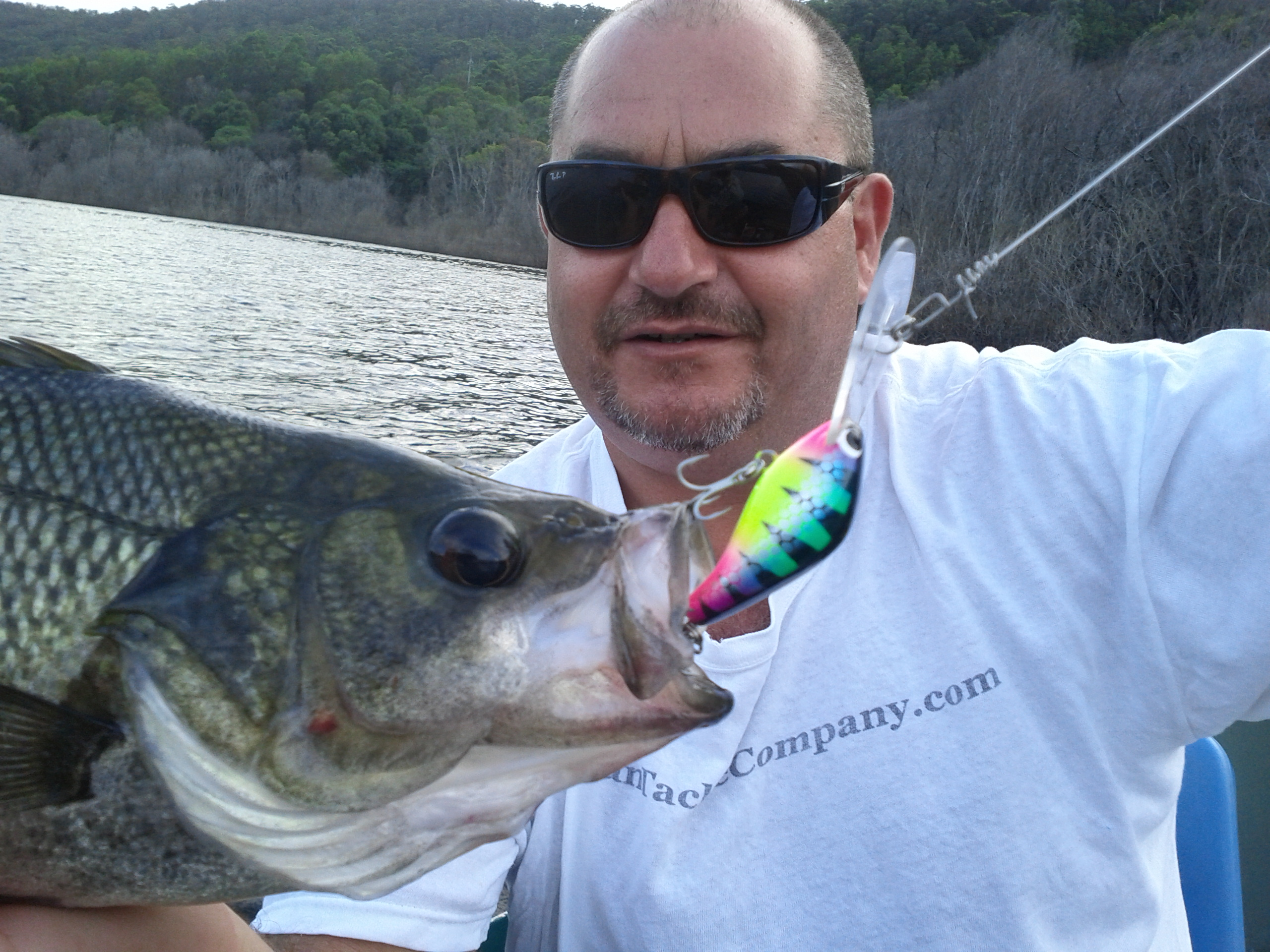 Bass (Jason McMillan) caught with our Wind-On LURE CONNECTORS (001)